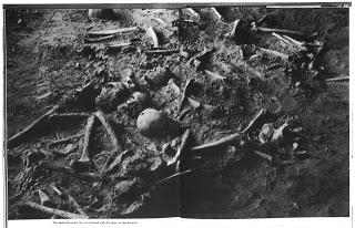 미국에서 발굴된 거인 유골에 관련된 지역 신문기사들