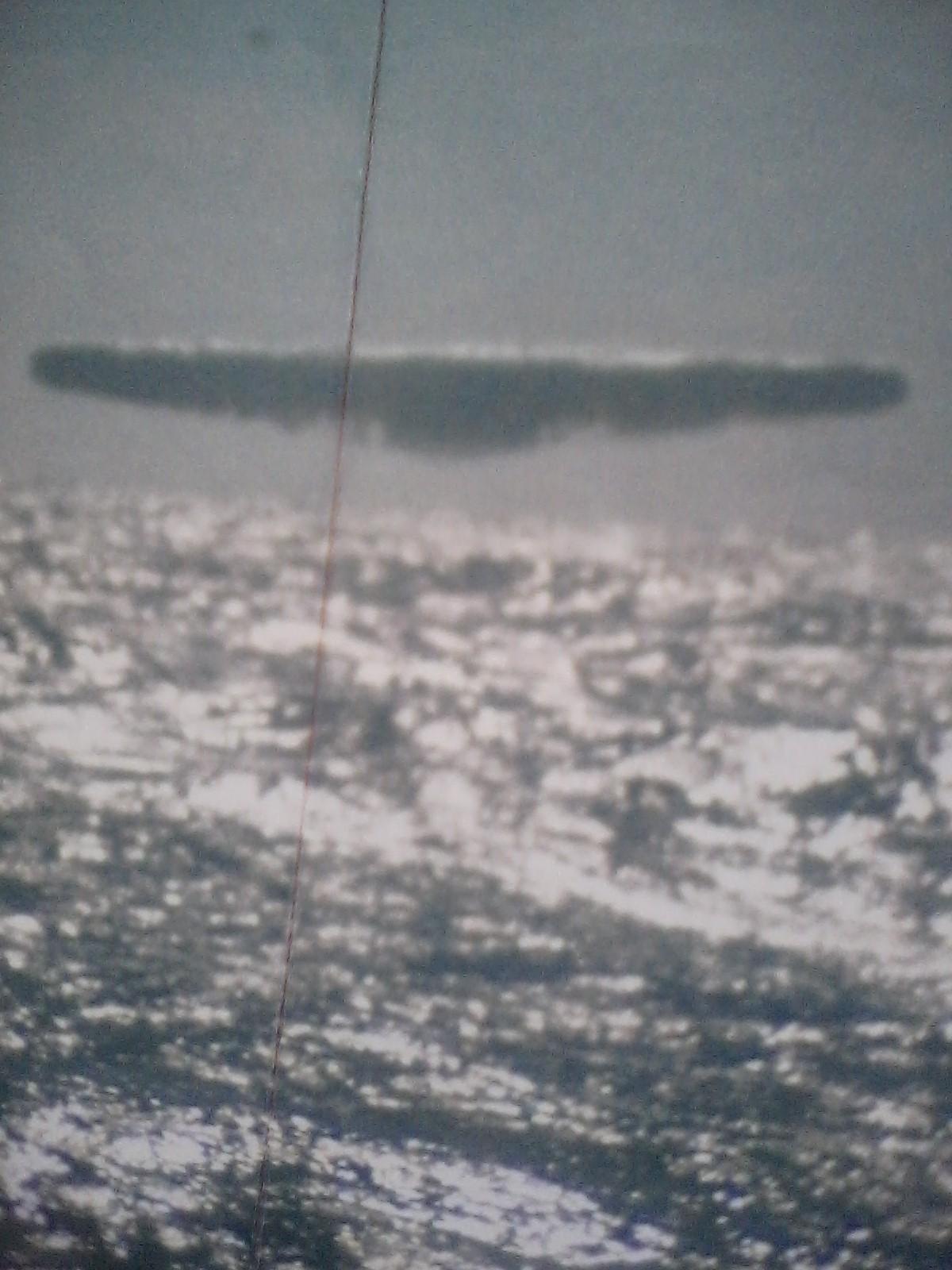 1971년 북극 근방에서 미군 잠수함에 의해 찍힌 UFO 사진