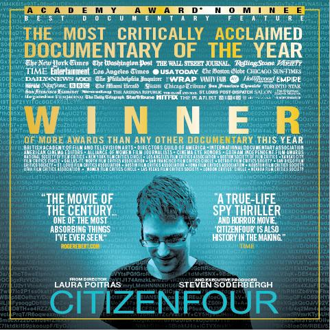 스노우든에 대한 다큐멘터리를 촬영한 감독이 미국 정부에 소송을 걸다.
