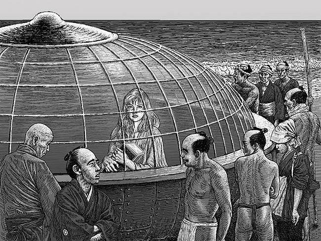 19세기 일본의 전설에 등장하는 UFO