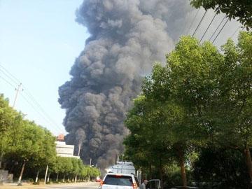 중국에 네 번째 화학공장 폭발이 발생하다.