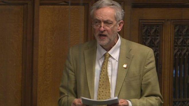 영국 노동당 대표 콜빈은 IS의 지원, 거래선을 끊어야 한다고 말한다.
