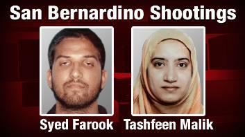 목격자들이 주장하는 샌버나디노 총격 사건의 용의자가 카메라에 찍혔다.