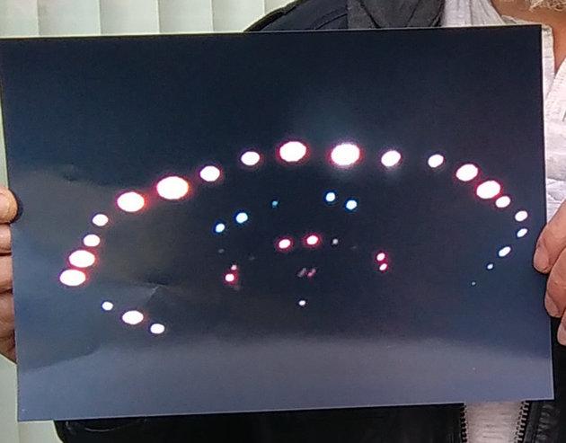 스코틀랜드에서 찍힌 UFO의 사진이 관심을 끌고 있다.