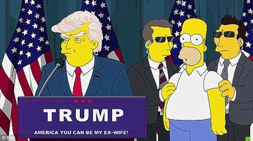 심슨즈는 16년 전 도널드 트럼프의 대통령 당선을 예측하였다.