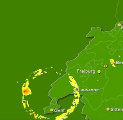 스위스 상공에 벌어진 이상한 기상 현상