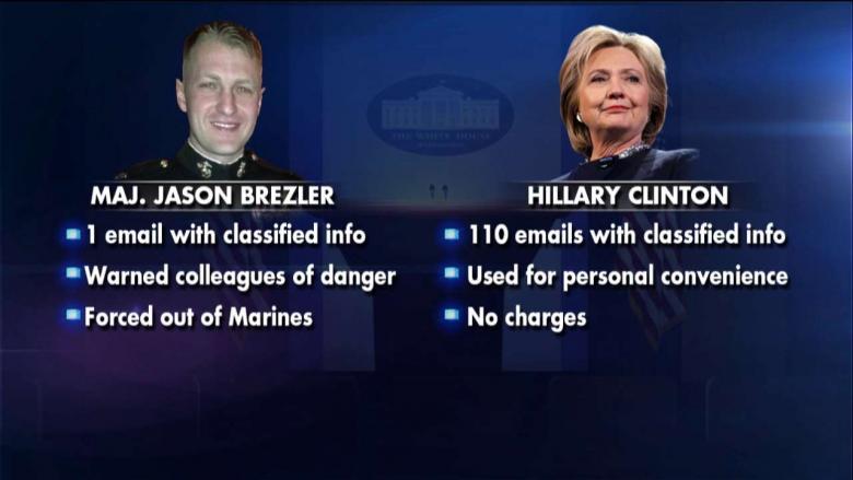 한 해군은 힐러리와 같은 처분을 요구한다.