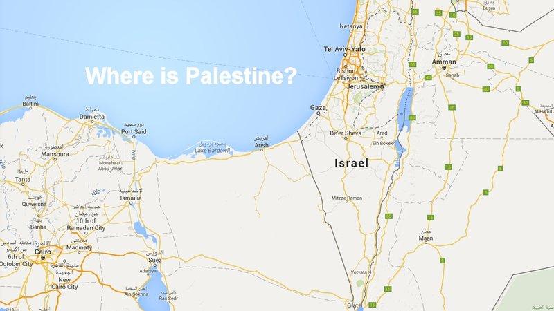 구글은 팔레스타인을 지도에서 지우고 이스라엘로 채워넣었다.