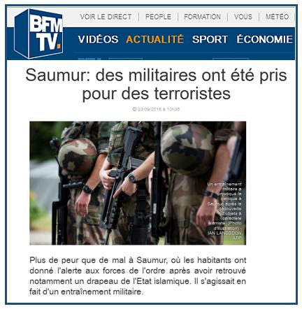 프랑스 소뮈르의 동굴에서 IS의 장비가 발견되다.