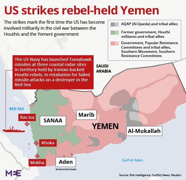 베트남전의 통킹만 사건과 예멘 공습을 촉발한 미 해군에 대한 미사일 공격