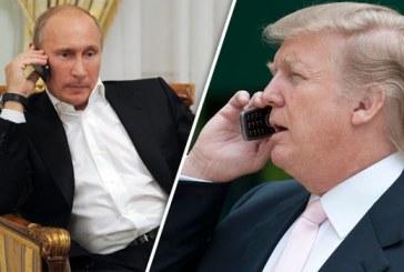 트럼프는 푸틴과 전화통화를 갖고 양국 협력 방안과 시리아 사태를 논의했다.
