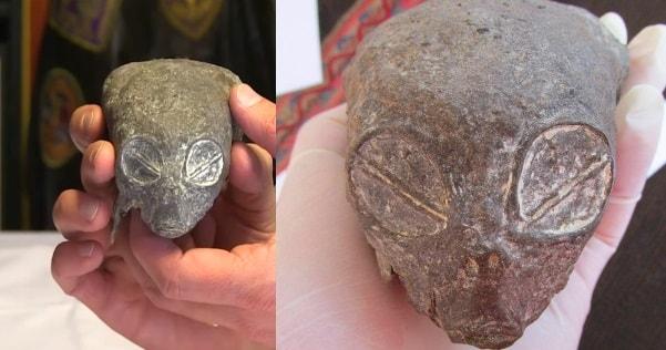 페루 사막에서 이상한 생명체의 미이라와 두개골이 발견되다.