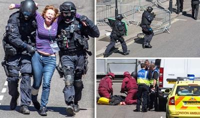 런던의 의사당 주변에서 발생한 테러가 자신의 소행이라고 주장한 IS