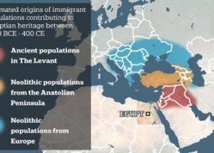 고대 이집트인들의 조상이 유럽과 중동 출신이라는 연구가 발표되다.