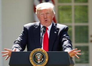파리 기후 협정 탈퇴를 발표한 미국