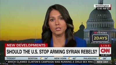 개버드 의원은 미국이 정권 교체 정책을 버려야 한다고 말한다.