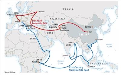 일본 정부가 중국의 '일대일로 계획' 가입 가능성을 비추다.