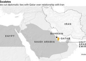 카타르와 단교를 선언한 사우디와 걸프만 국가들