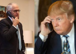 올해 1월에 트럼프와 호주 총리가 가진 전화 통화 전문이 유출되다.