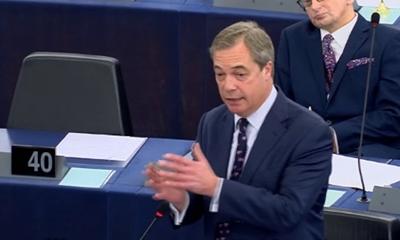 유럽의회에 유입된 조지 소로스의 자금에 대한 조사를 요구하는 나이절 패라지