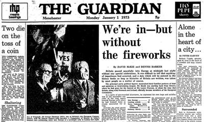 유럽경제공동체 가입의 의미를 국민에게 숨길 것을 주문한 영국의 기밀 문서