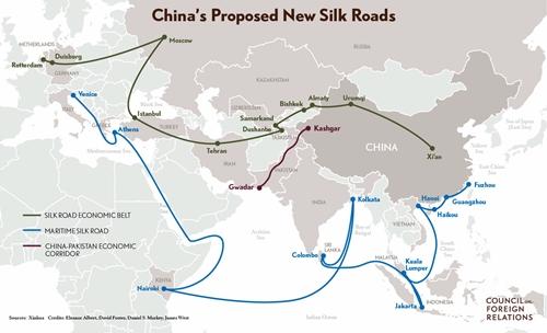 중국의 일대일로 계획에 참여하는 이탈리아와 관심을 표명한 몰타