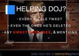 트럼프 대통령의 개인 메시지를 영장 없이 제공하겠다는 트위터 관계자
