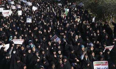 """이란 최고지도자, """"이란의 적들이 시위를 유발하고 있다"""""""
