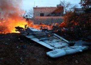 시리아 반군이 러시아 전투기를 격추하다.