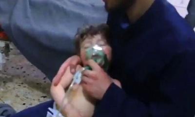 러시아의 예고대로 시리아 고우타에서 화학무기 공격이 발생하다.
