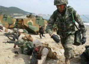 한미 군사훈련의 중단을 요구한 러시아