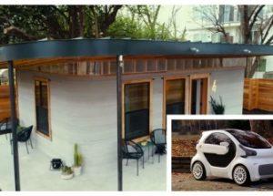 3D 프린팅 기술을 이용한 만 불 짜리 전기 자동차와 주택이 등장하다.