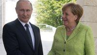 러시아를 방문한 독일의 메르켈 총리