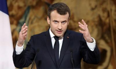프랑스 대통령 엠마뉘엘 마크롱의 지지율 하락