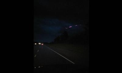미국 샬럿의 밤 하늘에 촬영된 UFO