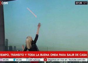 아르헨티나의 뉴스 생방송에 등장한 UFO