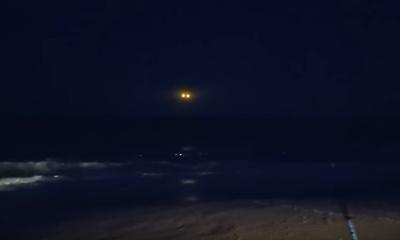 노스캐롤라아나 해변에서 촬영된 미확인 비행물체