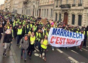 유엔이주협약에 반대하는 시위가 벌어진 브뤼셀
