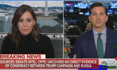 러시아 게이트 조사를 맡은 상원이 공모의 증거를 발견하지 못했다고 보도한 NBC