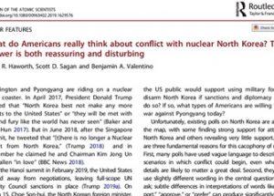 핵 과학자 협회 여론조사, '38%의 미국인은 북한에 대한 핵 선제 공격을 지지한다'