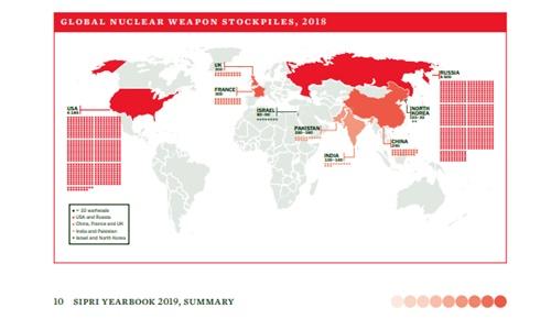 이스라엘이 최소 80기의 핵 무기를 보유하고 있다는 보고서가 나왔다