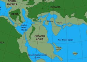 남부 유럽 밑으로 가라앉은 다섯 번째 대륙 대아드리아