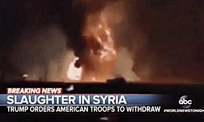 미군의 무기 시연 영상을 시리아 전투 상황으로 내보낸 ABC 뉴스