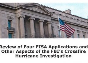 법무부 감사실 보고서, 'FBI의 트럼프 선거 캠프 감시는 부정확한 정보에 기인한 실수'