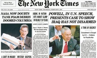 군과 정보부의 기사 사전 승인을 받는 뉴욕타임스