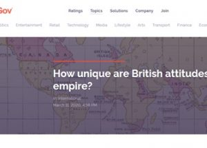 YouGov 여론조사, 식민 시대가 자랑스러운 영국인 32%, 일본인 18%