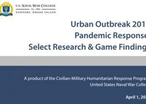 작년 9월 대규모 전염병이 등장하는 군사작전 게임을 실시한 미 해군 대학