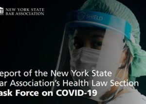코로나19 의무 접종의 법제화를 제안하는 뉴욕주변호사협회