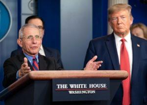 파우치 박사와의 의견 차이를 인정한 트럼프 대통령