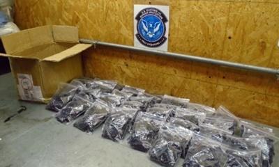 10,800개의 총기 부품을 미국으로 밀반입하다가 적발된 중국